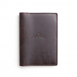 Squirrel Tail Winter Leather Passport Holder Cover Case Travel One Pocket