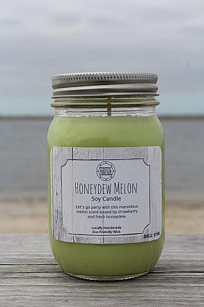 Honeydew Candle Fruit lovers Honeydew Melon 16 oz Natural Soy Jar Candle